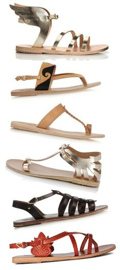 Loving these  A Diary of Lovely: Ancient Greek Sandals