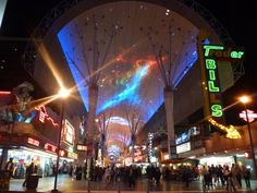 A free light and sound show at the Fremont Street Experience