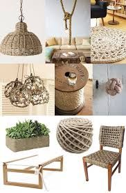 Rope decor and a back yard beach ideias criativas decoracao, ideias diy, id Rope Crafts, Diy And Crafts, Creative Crafts, Twine Crafts, Crafts For Kids, Sisal, Deco Marine, Rope Decor, Creation Deco