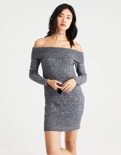 7ba4d9413d1 American Eagle Outfitters AE Ahh-Mazingly Soft Off-the-Shoulder Sweater  Dress Mens