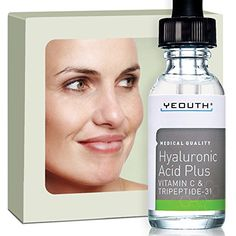 Best Anti Aging Vitamin C Serum with Hyaluronic Acid & Tripeptide 31 Trumps ALL Others. Maximum Percentage Vitamin-C. Famous Doctor on TV Says Topical Vit C Can Make Your Face Look Ten Years Younger! 100% Money Back Guarantee Yeouth http://www.amazon.com/dp/B00KYUXIOG/ref=cm_sw_r_pi_dp_rEQbxb0F4WSX6