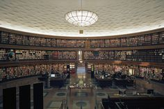 Stockholm Public Library | Sweden  via  http://twistedsifter.com/2010/08/libraries-around-the-world/  and  http://www.flickr.com/photos/tc4711/4913228312/