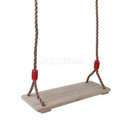 Wooden Indoor Outdoor Swing Seat With Rope SET Garden Playground Accessories | eBay