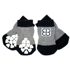 2d118516aec Home Comfort Traction Control Dog Socks - Black   Gray