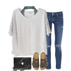 A fashion look from July 2016 featuring Clu t-shirts, Citizens of Humanity jeans e Free People bras. Browse and shop related looks.