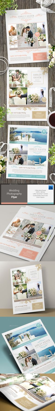 Wedding Photography Flyer by arifpoernomo This Wedding Photography Flyer, can be used for promote your wedding photography business. Very easy to edit text, color and chang