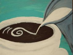 Coffee Art Expressions Acrylic Paintings by plainjanesstudioone, $95.00 set of three