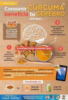 Hábitos Health Coaching | Consumir CÚRCUMA beneficia tu cerebro porque…