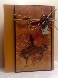 Amy's Creative Pursuits Cowboy Card Image retired Stampin Up!