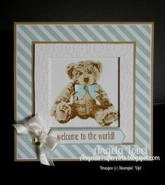 One of my favourite stamp sets released in the Stampin' Up! 2016-17 Annual Catalogue is Baby Bear. It's a gorgeous triple step stamp set.   ...