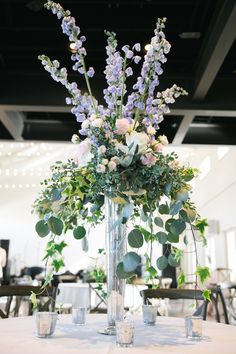 The Enchanted Florist is an award-winning event and wedding florist in Nashville, TN Blue Centerpieces, Tall Wedding Centerpieces, Wedding Arrangements, Wedding Table Centerpieces, Diy Wedding Decorations, Floral Arrangements, Quinceanera Centerpieces, Centrepieces, Wedding Flower Inspiration