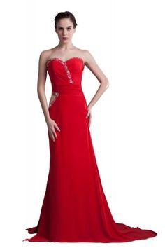 Glamorous Sweetheart Court Train Chiffon Evening Dress ZW (6, Red) Lemandy http://www.amazon.co.uk/dp/B00HZXTZ7E/ref=cm_sw_r_pi_dp_vLliwb12P3BP5