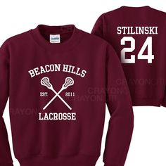 Teen Wolf Beacon Hills Lacrosse Sweatshirt by MarsNewYork on Etsy