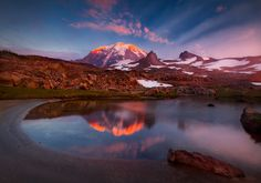 Unexpected Light on Rainier by Trevor Anderson on 500px