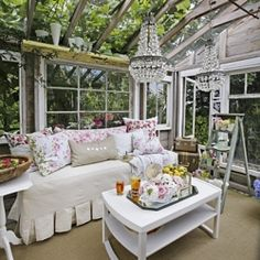 For a wedding present, Heather Cameron's husband, renovated a weathered potting shed on their property into a small greenhouse.