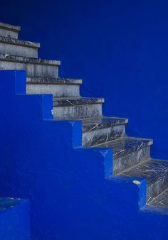 Blue stairs, #Morocco #blue repinned by www.smg-design.de #smgdesignselect