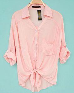 #casual #camisa #rosa