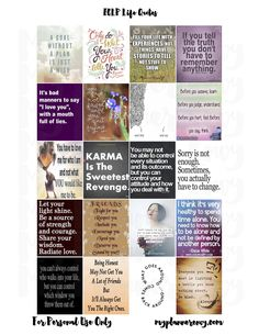 My Planner Envy: ECLP Life Quote Squares - Free Planner Sticker Printable.