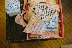 Unique guest book idea - write your wedding wishes on bunting!