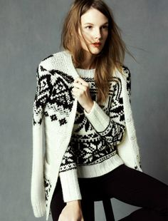J. Crew hand knit Fair Isle Sweater and Cardigan Holiday 2011