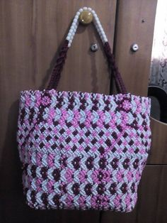 VOLTA Authentic African COTTON THREAD WEAVE HANDBAG WITH BEADED DESIGN
