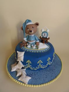 Sleepy Teddy Bear Cake