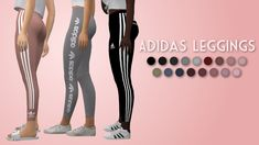 Adidas Leggings• teen-elder • 51 swatches • 3 styles I got so many requests to make these leggings I made for kids, for adults so here they are :) I revamped the textures a little bit and added way...