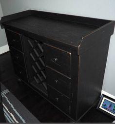 broyhill attic heirlooms wine cabinet in black