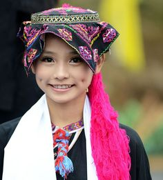 Ethnic Li girl, Hainan island, China.