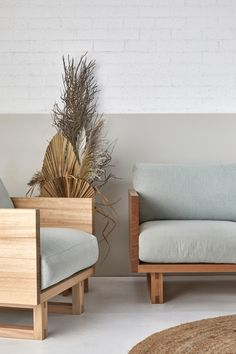 Be seated in comfort and style with solid timber construction that's designed to last. Interior Styling, Interior Decorating, Interior Design, Rustic Interiors, Interior Inspiration, Love Seat, Living Spaces, Armchair, Furniture Design
