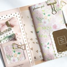 """241 Likes, 45 Comments - @myplannerheart on Instagram: """" Setup Webster's Pages Color Crush Travelers Notebook Platinum Rose …"""""""