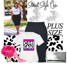 Chic in Chicago by dazzlingemeraldplussizes on Polyvore featuring The French Bee and dazzlingemeraldplussizes