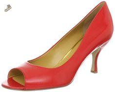 Nine West Women's Qunity Peep-Toe Pump,Red Leather,8.5 M US - Nine west pumps for women (*Amazon Partner-Link)