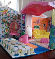 1966 World of Barbie House - Pink Roof