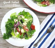Greek Salad without Olives (South Beach Phase 1 Recipe)   Dietplan-101.com
