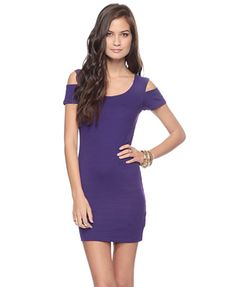 Shoulder Cut-Out Bodycon Dress