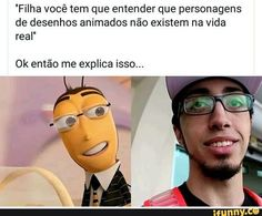 MDS parece mt um prof do English Live omgggg Little Memes, Memes Status, Funny Video Memes, Bad Mood, Wtf Funny, Best Memes, Funny Posts, Marvel Dc Movies, Youtubers