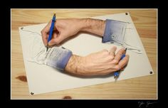 Photoshop Will Take You As Far As Your Imagination Will Allow. Amazing work done with Photoshop will blow you away. Escher Drawings, 3d Drawings, Illusion Photography, Photoshop Express, Funny Photoshop, Photoshop Tutorial, Photoshop Ideas, Photomontage, Optical Illusions
