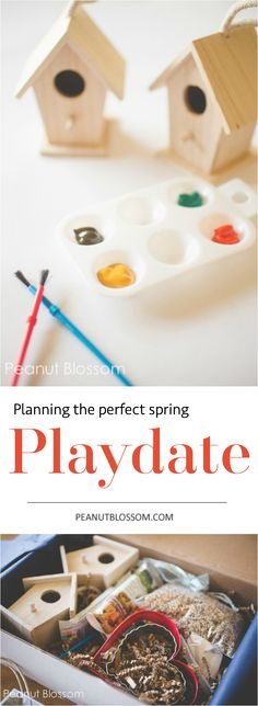 Looking for a fun activity for your preschooler? This is the perfect playdate idea for 2 little ones. Too cute for spring.