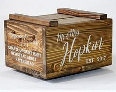 Large Wedding card Box with lock post box keepsake box with Rustic Card Box Wedding, Money Box Wedding, Wedding Boxes, Wedding Cards, Wood Card Box, Post Box, Personalized Wedding Gifts, Keepsake Boxes, Handmade Gifts