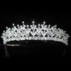 Beautiful Alloy With Rhinestones Bridal Tiara - USD $ 49.99