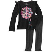 BTS Outfit Faded Glory Little Girls' Long Sleeve Tee & Legging Set, 2 Pack - #momselect #backtoschool (1)