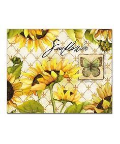 Look what I found on #zulily! Sunflower Cutting Board by CounterArt #zulilyfinds