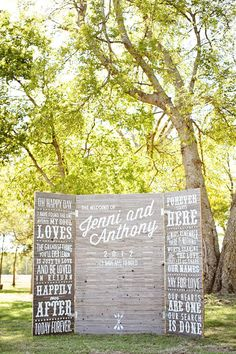 """Not all signage is created equal. Some signs have that extra sparkle that add a big dose of personality to an affair. The kind of signs that announce """"we're awesome, we're married and we want to sing it from the mountaintops.""""And when a Bride owns the most adorable invitation company we ever did see, and […]"""