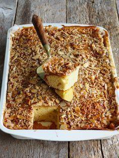 Prøv Toscakake i langpanne med ekstra god mandeltopping! Perfekt å ha med til avslutninger, fester, dugnader, loppemarkeder, osv. Oppskriften finner du her på bloggen Mat på bordet.