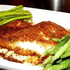 Baked Parmesan Perch... With lent coming up, I may have to try this. (Mac and Cheese gets kinda old)