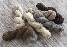 Mohawk Wool: 60% Merino, 30% Romney Wool, 10% Nylon. Grown and spun in the USA, Mohawk Wool is part of the MountainTop Collection of yarns in natural, undyed shades. The lustrous merino and lofty romney wool combine with a bit of nylon in this sport weight 3-ply yarn.