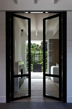 Love these doors for the screened on porch and dining area