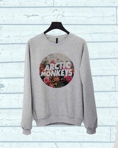 Arctic Monkeys flower sweater Sweatshirt Crewneck Men or Women Unisex Size  this sweatshirt made use high quality cotton fleece and use high quality
