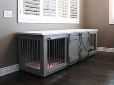 Rustic Dog Crate - Sliding barn doors / Fully Custom / Dog House / Credenza / Unique / rustic furniture / farmhouse pet / dog kennel by TheRusticForest on Etsy https://www.etsy.com/listing/517081872/rustic-dog-crate-sliding-barn-doors